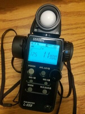 Sekonic L-558 Light Meter with case, PERFECT Condition!