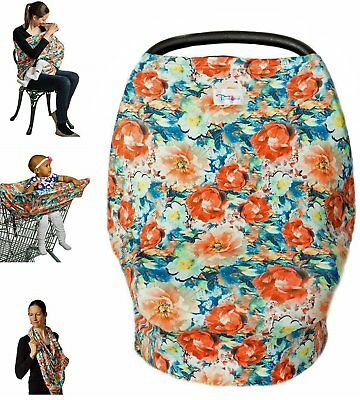 High Quality Stretchy Baby Car Seat Cover, Canopy, Nursing And Breastfeed Cover