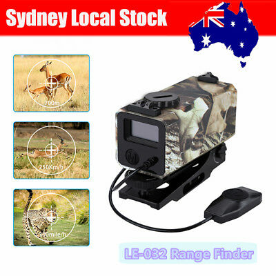 Sydney Mini 700m Rifle Scope Laser Hunting Range Finder 300km/h Camo With Mount