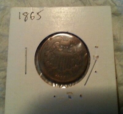 1865 Two Cent Coin Nice Condition