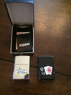 Lot Of (2) Las Vegas Zippo Lighters. Vintage?
