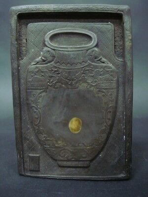 Heavy Old Chinese Hand Carved Ink Stone Ink Slab Marks