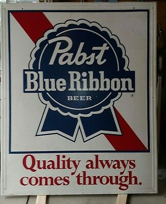 Vintage 1974 metal Pabst Blue Ribbon sign