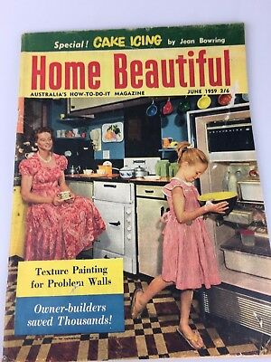 Home Beautiful Magazine June, 1959 - Great Vintage And Retro Ads