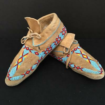 Vintage/Antique Native American Hand Beaded Moccasins