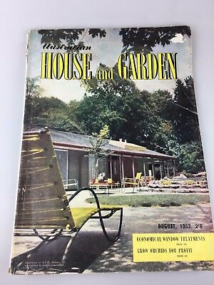 House & Garden Magazine - August, 1953 - Great Vintage And Retro Ads