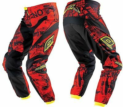 Oneal Racing element motorbike bmx pants mens size 30 toxic red yellow