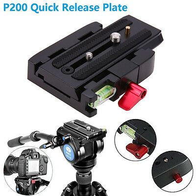 Quick Release Plate P200 Clamp Adapter for Manfrotto 577 501 500AH 701HDV 50