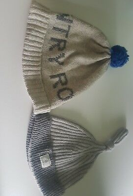 Country road baby boys knit Beanies (2no)