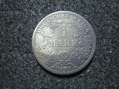 1875 A Germany Empire Mark Silver Circulated