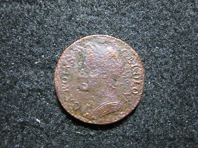 1672 Great Britain Farthing Corrosion
