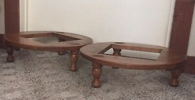 2 FURNITURE BY BAUMRITTER Stacking Footstool Solid Wood Base Part or Plant Stand