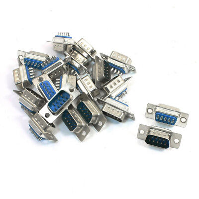 20 Pcs Replacement Converter DB9 Male Solder Type Adapter Blue A0K8