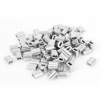 1/16-inch Wire Rope Aluminum Sleeves C Fittings Cable Crimps 100pcs B0S1