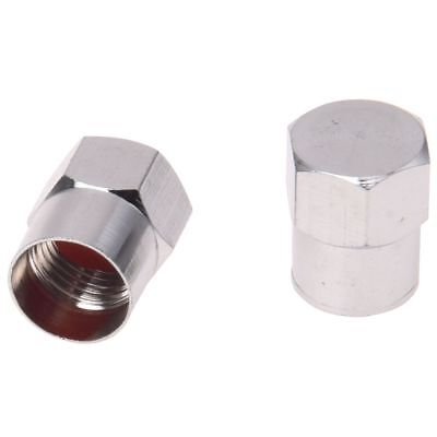 5 Quality Chrome Valve Dust Caps Car / Bike Tube - Tyre P2G1