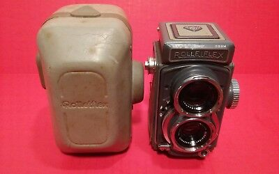Vtg Rolleiflex Camera Xenar 1:3.5 /60 Franke Heidecke Germany As Found
