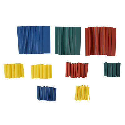 260 Heat Shr Assortment Wire Wrap Electrical Insulation Sleeving Tube E7L6