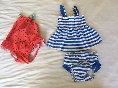 2x Baby Girl Swimmers Size 00