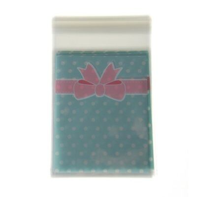 50 in 1 Pouch Point Blue Bowtie Bag for Candy Sweet Cookie E3S6