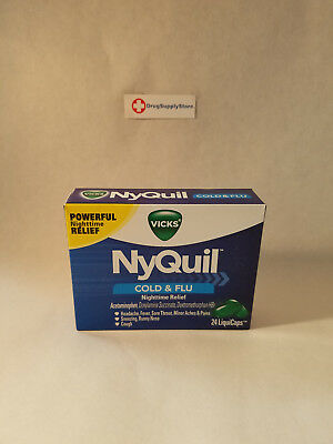 Vicks NyQuil Cold & Flu Nighttime Relief LiquiCaps 24 Count