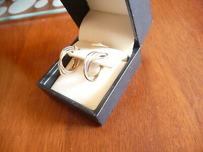 9ct gold earrings Italy 375
