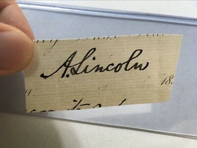 Abraham Lincoln autographed/ certified cut signature