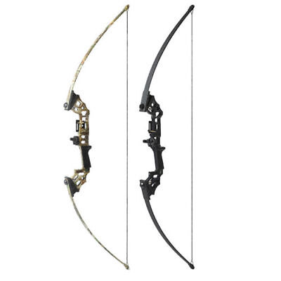 2 Archery Straight Bows Hunting Take down Bow Right Hand Longbow Camo/Black 40#