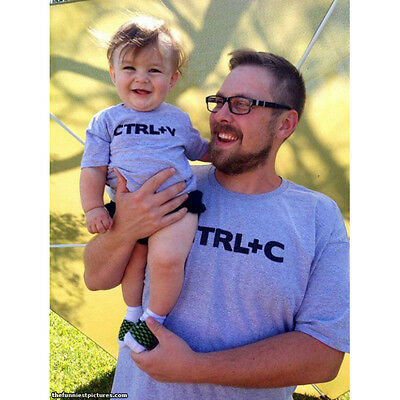 Couple T-Shirt Father Son Daughter Matching Shirts Family Outfits Clothes MX