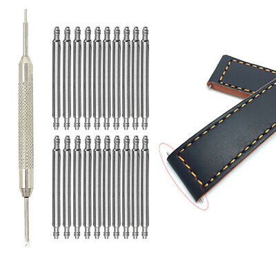 20 x Stainless Steel Spring Bars, Bar Pin for Watch Band Straps, 6mm to 30mm