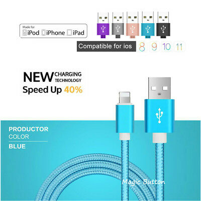 Aluminum USB Data Charging Cable Charger cord for Genuine Apple iPhone iPad iPod