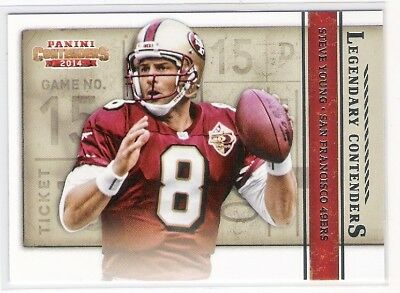 Steve Young 2014 Panini Contenders Legendary Contenders Insert #7