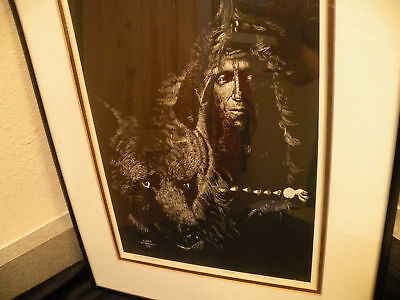 Roger frenandes- Native American Print- Wolf -Numbered