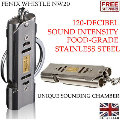 New Fenix NW20 Emergency Lifesaving Survival SOS Camping Stainless Steel Whistle