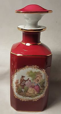 Beautiful LA REINE LIMOGES Vintage Porcelain Decanter