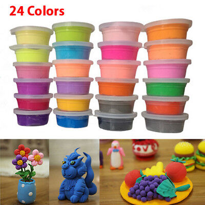 24 Colors Ultra Light Modeling Magic Air Dry Clay Crafts Kit, Best Kids Gift