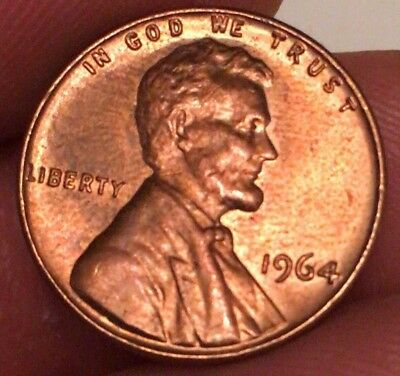 1964 Lincoln Memorial Penny *ERROR* Beautiful Coin!