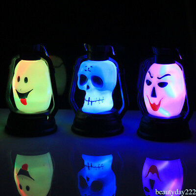 Newest Halloween Skeleton LED Lantern Night Light Lamp Horror Flash Lighter WF6