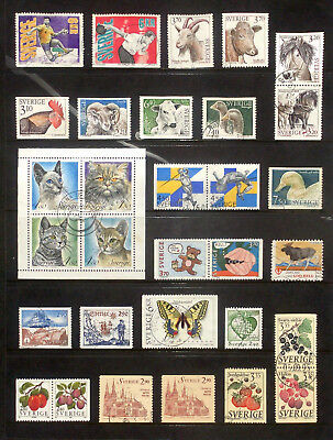 Good lot of used stamps from Sweden 1993,94