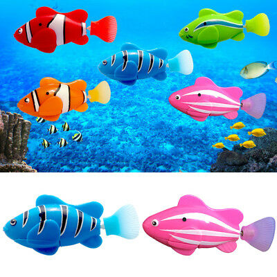 Electric Swim Fish Activated Battery Powered Robotic Pet Fish Kids Toy Useful
