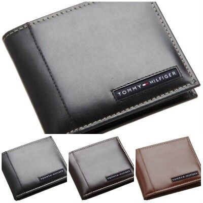 Tommy Hilfiger Mens Genuine Leather Ranger Passcase Wallet 31tl22x063 All Colors