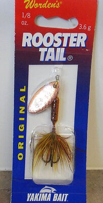 Wordens Roostertail Copper Blade, 1/8oz - Brown Trout, Worden's spinner lure