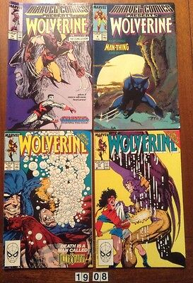 4 x Marvel Wolverine Comic Books from 1988-90. No's 8, 10, 19 & 20. Fine