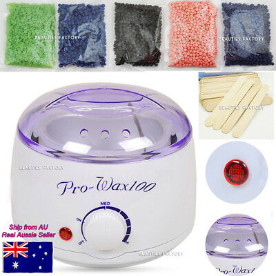 WAX WARMER POT WAXING BEAN KIT (No Paper Required) Depilatory Hair Removal Body