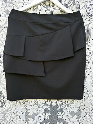 BASQUE Size 10,12 Womens Ladies  black  suit jacket and skirt