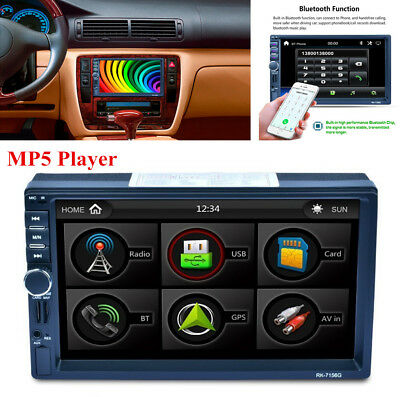 7inch 2DIN HD AM/FM/MP3/MP5 Radio Player + GPS Navigation Bluetooth Quick Charge