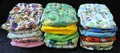 18 Pack/Bundle Modern Cloth Nappies with Microfiber Inserts
