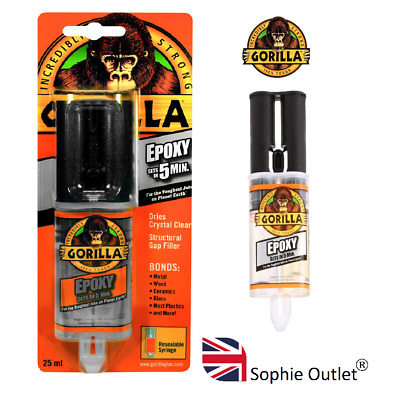 25ml GORILLA EPOXY GLUE Strong Adhesive Metal Ceramic Wood Plastic Glass Glue