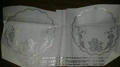 Vintage Silver Embroidery transfer pattern RARE  Deighton's Transfer #5