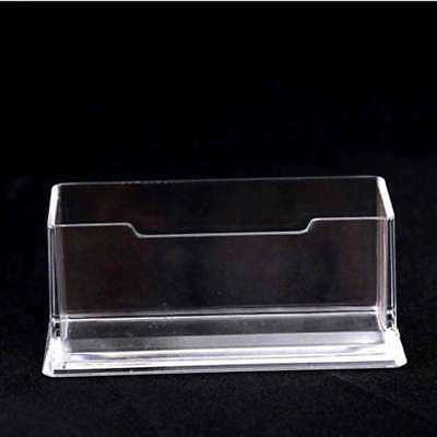 Clear Desktop Business Card Holder Acrylic Display Stand Card Organizer NEW