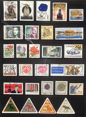 Good lot of used stamps from Sweden 1997,98